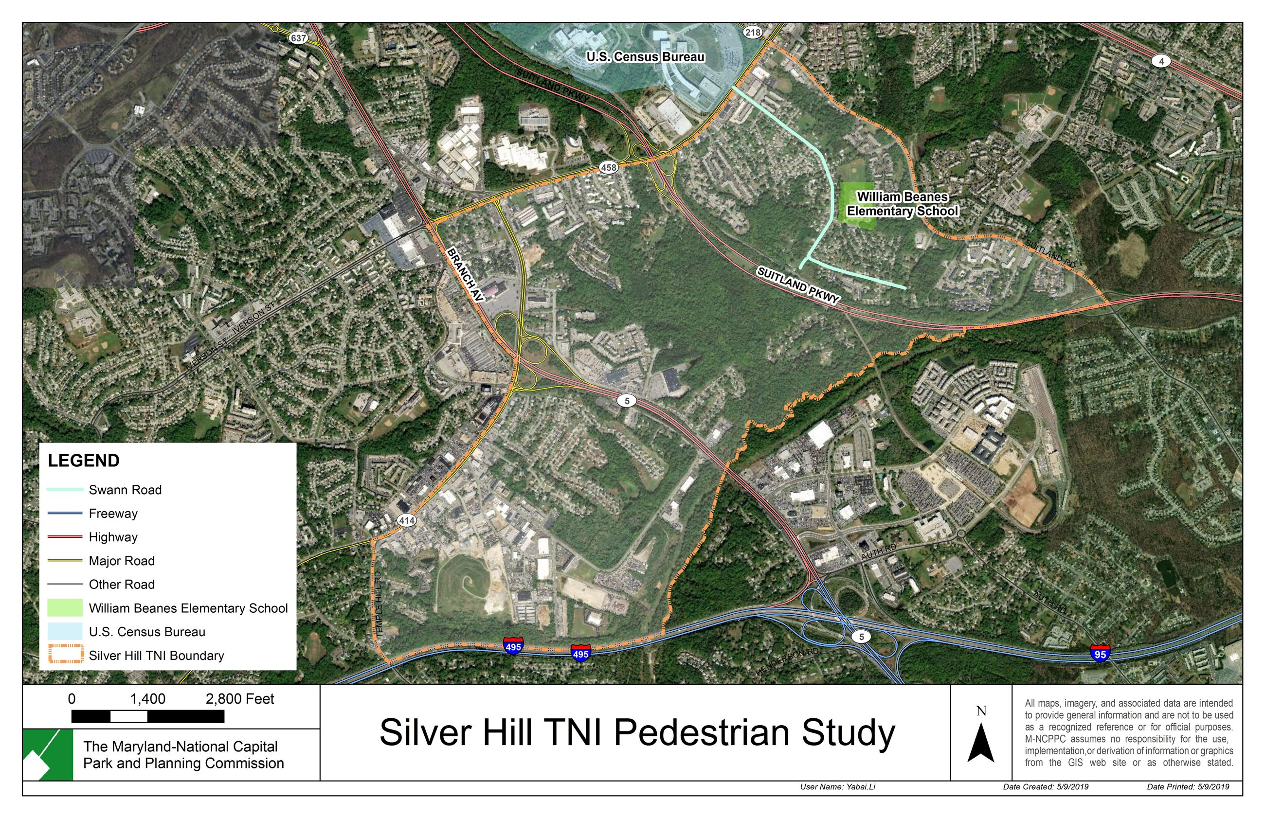 Silver Hill TNI Map