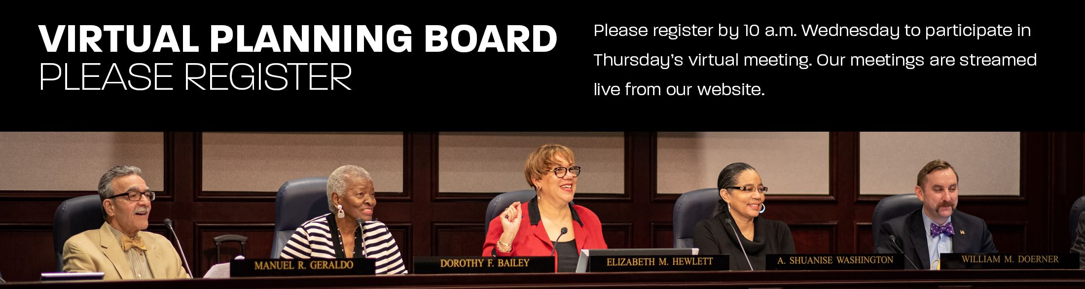 View live stream of Virtual Planning Board 3/26 session