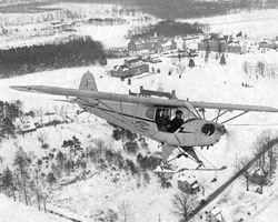 Brinckerhoff Flying Service Plane Over the University of Maryland