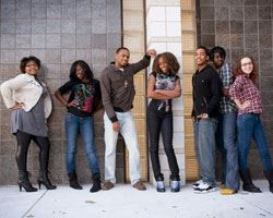 Teens posing after a Fashion Show at Bladensburg Community Center