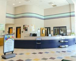 Front lobby of the Oakcrest Community Center