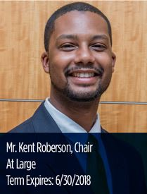 Headshot of Ken Roberson, chair at large of the Parks and Recreation Advisory Board
