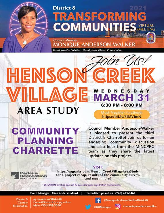 March 31 Community Meeting Flyer